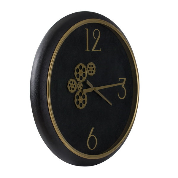 Black & Gold Wall Clock - The Home Accessories Company 2