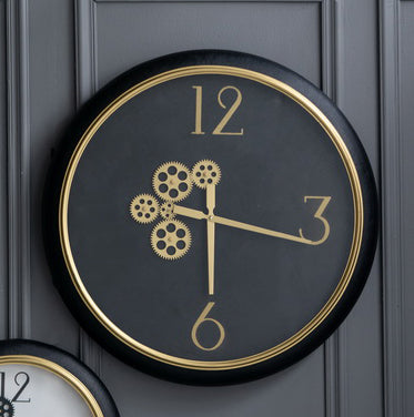 Black & Gold Wall Clock - The Home Accessories Company