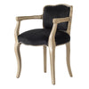 Vintage Black Velvet Lounge Chair - The Home Accessories Company 5
