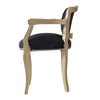 Vintage Black Velvet Lounge Chair - The Home Accessories Company 2