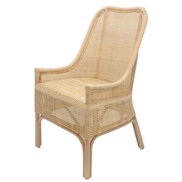 Rattan Whitewash Chair - The Home Accessories Company