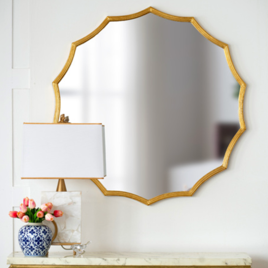 Minyama Scalloped Mirror - The Home Accessories Company 2