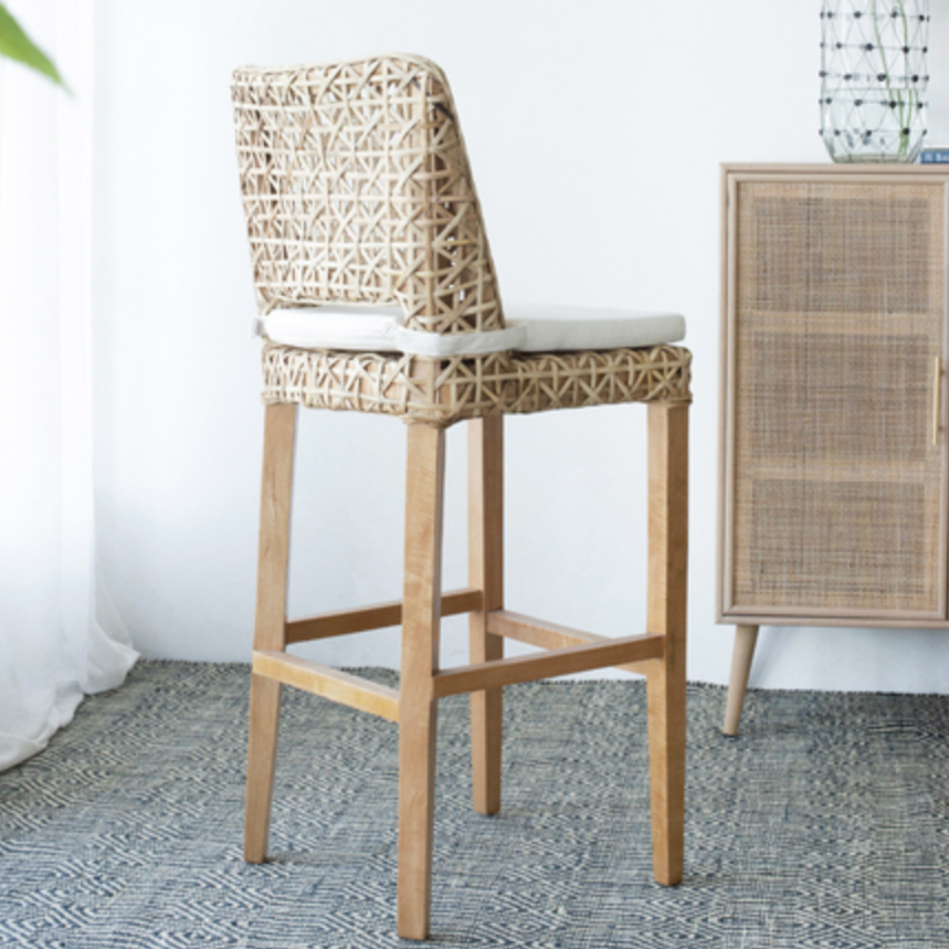 Coolum Rattan Bar Stool with cushion - The Home Accessories Company 3