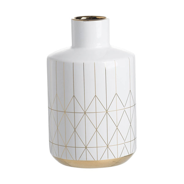 Geometric White Vase - The Home Accessories Company