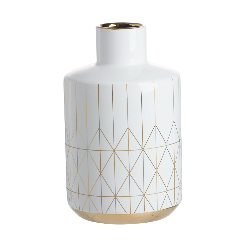 Geometric White Vase - The Home Accessories Company 3