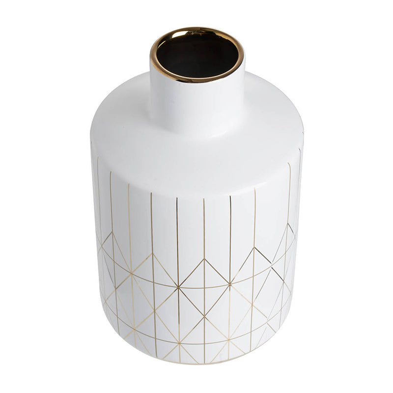 Geometric White Vase - The Home Accessories Company 2