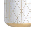 Geometric White Vase - The Home Accessories Company 1