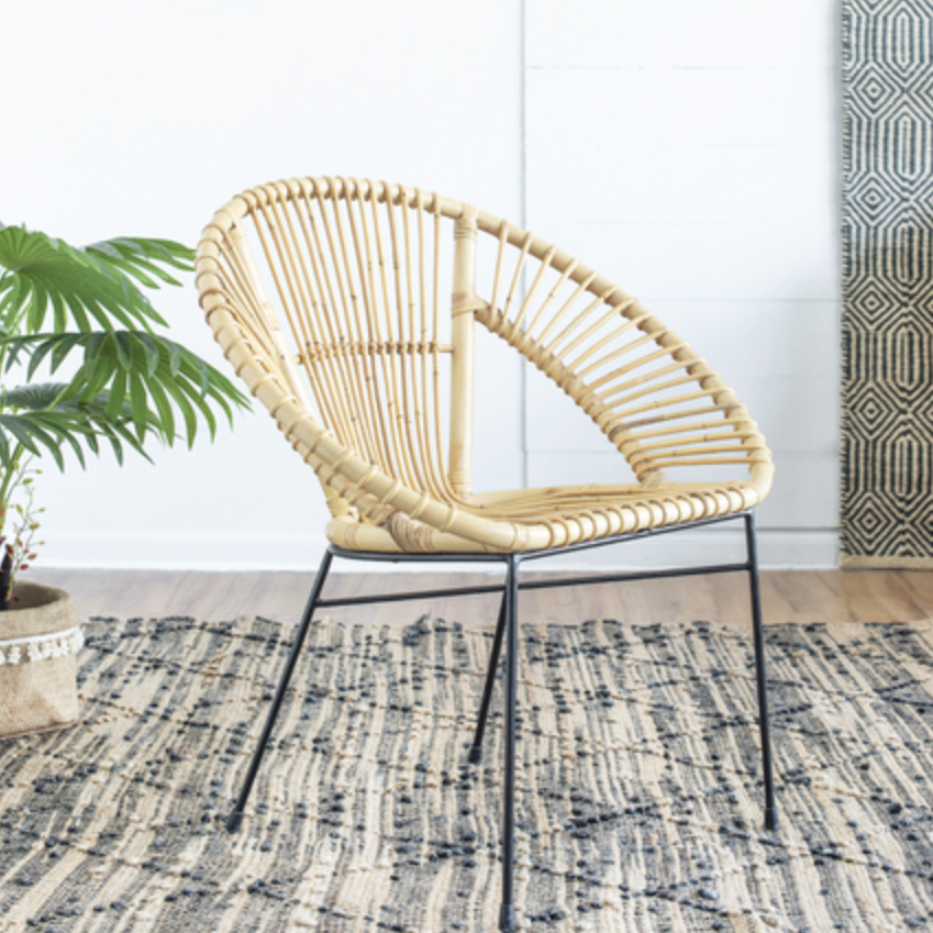 Aroona Fan shaped Rattan Chair - The Home Accessories Company 2
