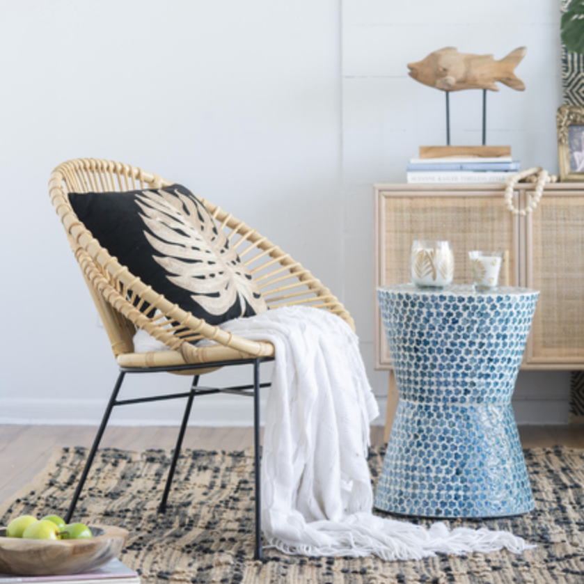 Aroona Fan shaped Rattan Chair - The Home Accessories Company 4