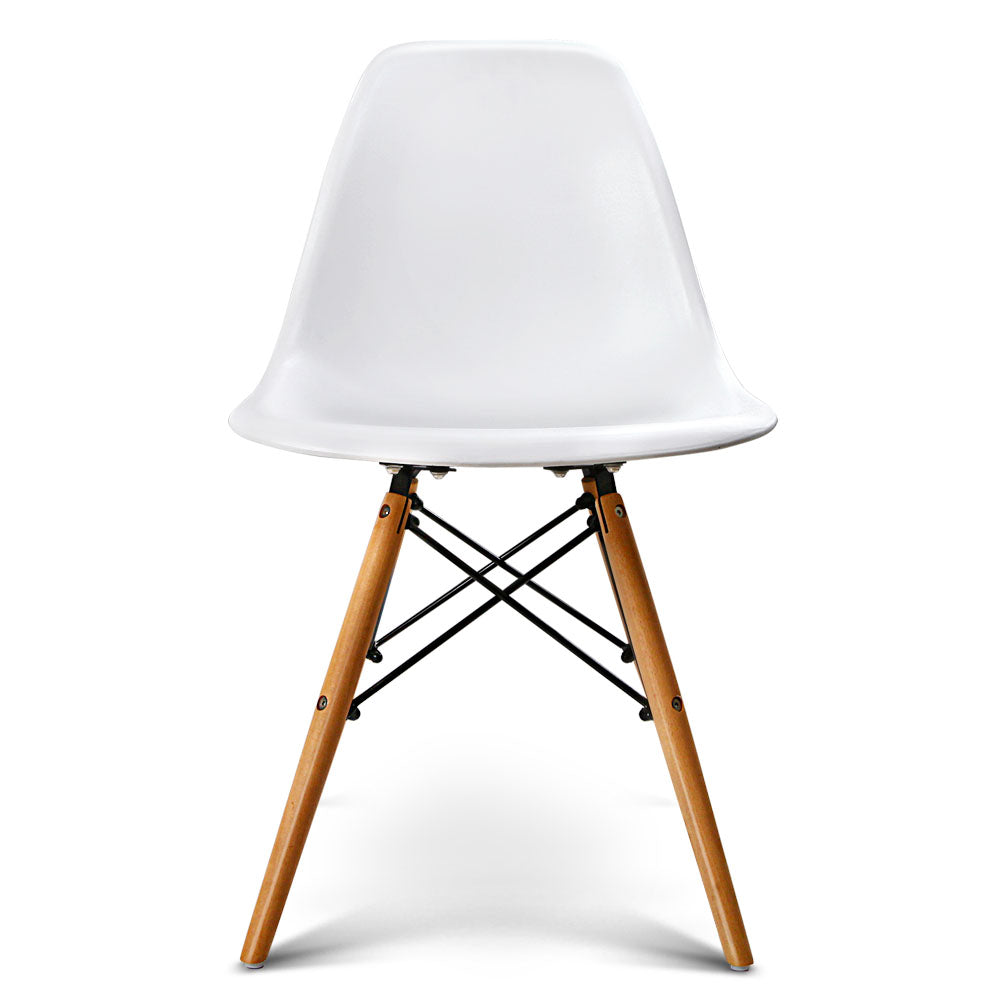 4 x Replica Eames DSW Dining Chair - White - The Home Accessories Company 1