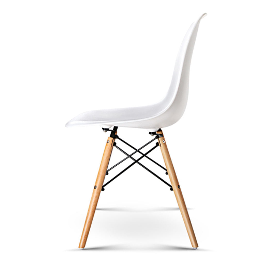 4 x Replica Eames DSW Dining Chair - White - The Home Accessories Company 3