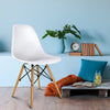 4 x Replica Eames DSW Dining Chair - White - The Home Accessories Company 4