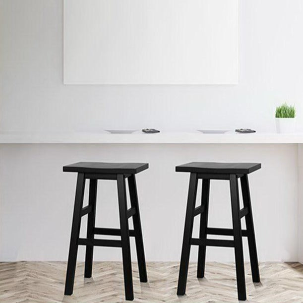 2 x Black Wooden Bar Stools - The Home Accessories Company 1
