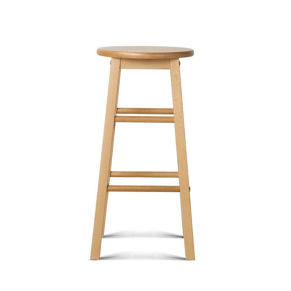 2 x Beech Wood Bar Stools - The Home Accessories Company