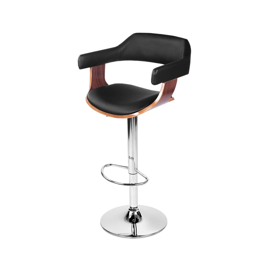 Wooden Nikki Bar Stool - Black - The Home Accessories Company