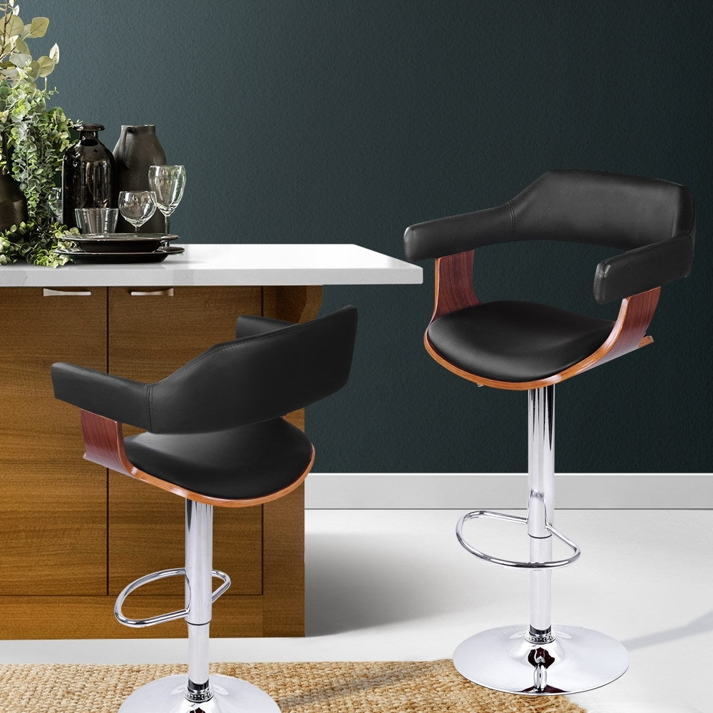Wooden Nikki Bar Stool - Black - The Home Accessories Company 5