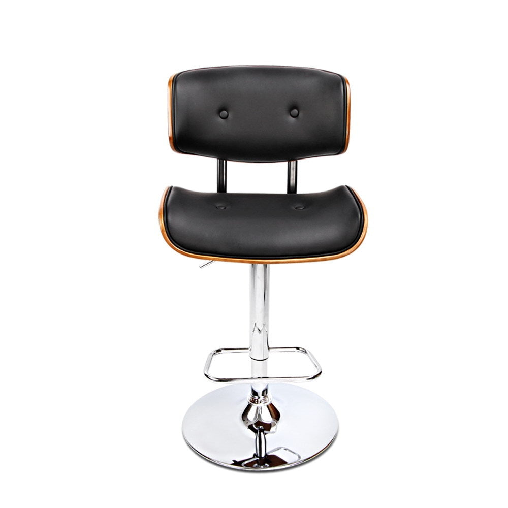 Wooden Gas Lift  Bar Stool - Black - The Home Accessories Company 1