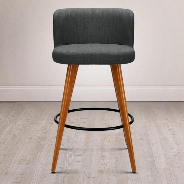 2 x Connor Wooden Bar Stools - Charcoal - The Home Accessories Company 2