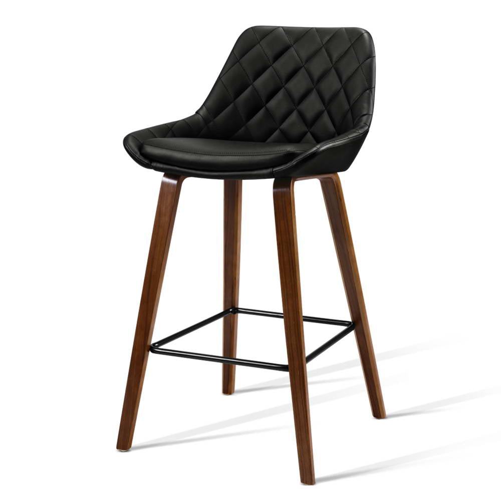 2 x Annie Kitchen Bar Stools - Black - The Home Accessories Company