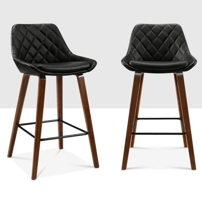 2 x Annie Kitchen Bar Stools - Black - The Home Accessories Company 3