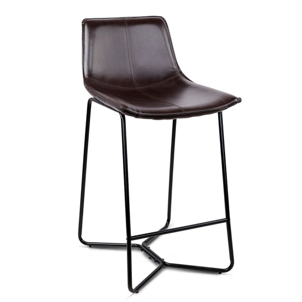 2 x PU Leather Bar Stools - The Home Accessories Company