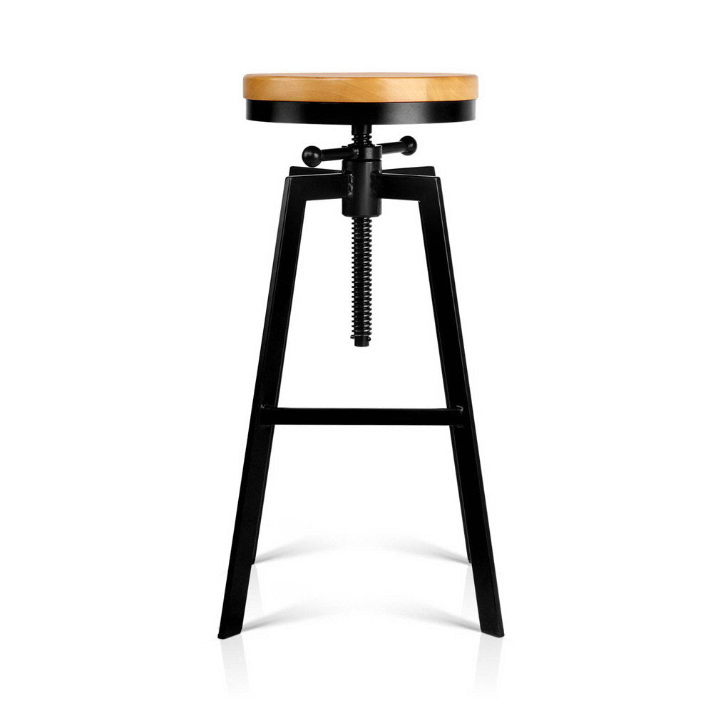 Industrial Adjustable Height Swivel Bar Stool - Black - The Home Accessories Company 1