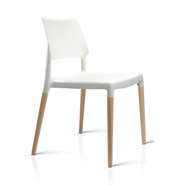 4 x Belloch Replica Dining Chairs - White - The Home Accessories Company