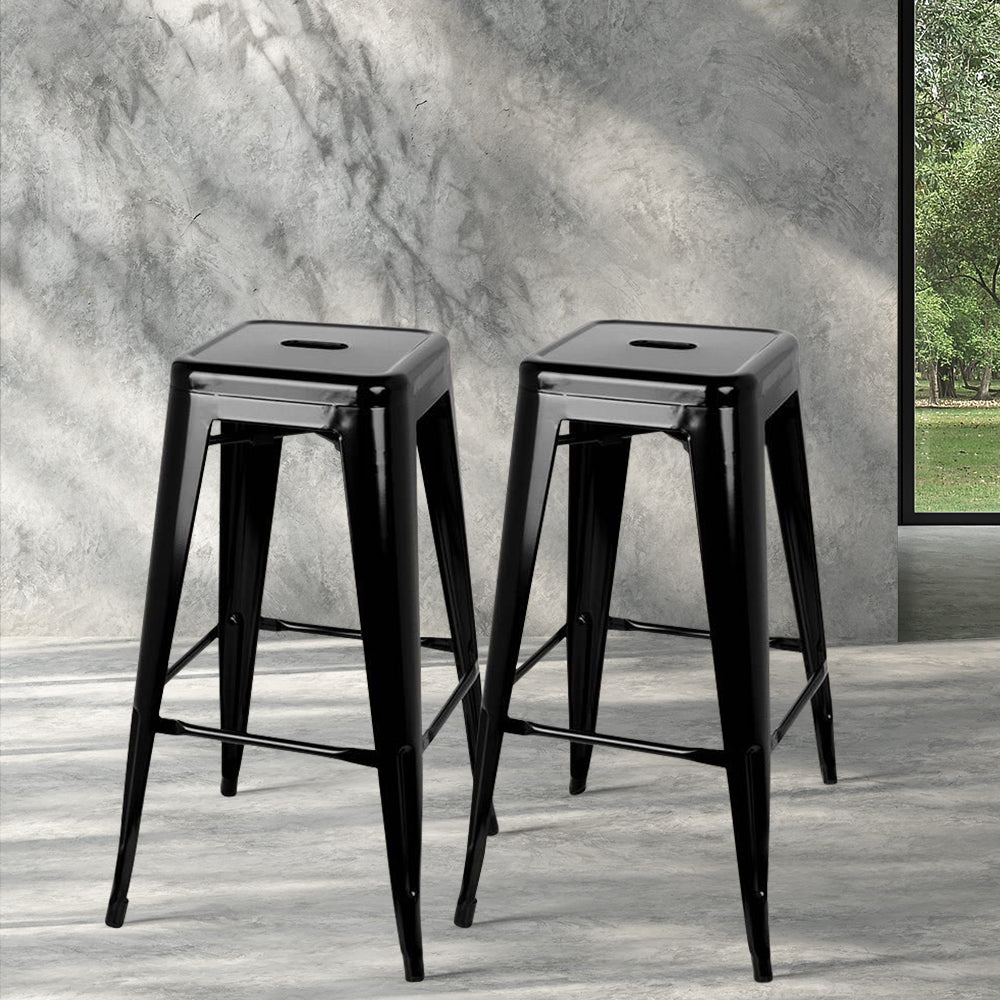 2 x Metal Replica Tolix Stools - Black - The Home Accessories Company 3
