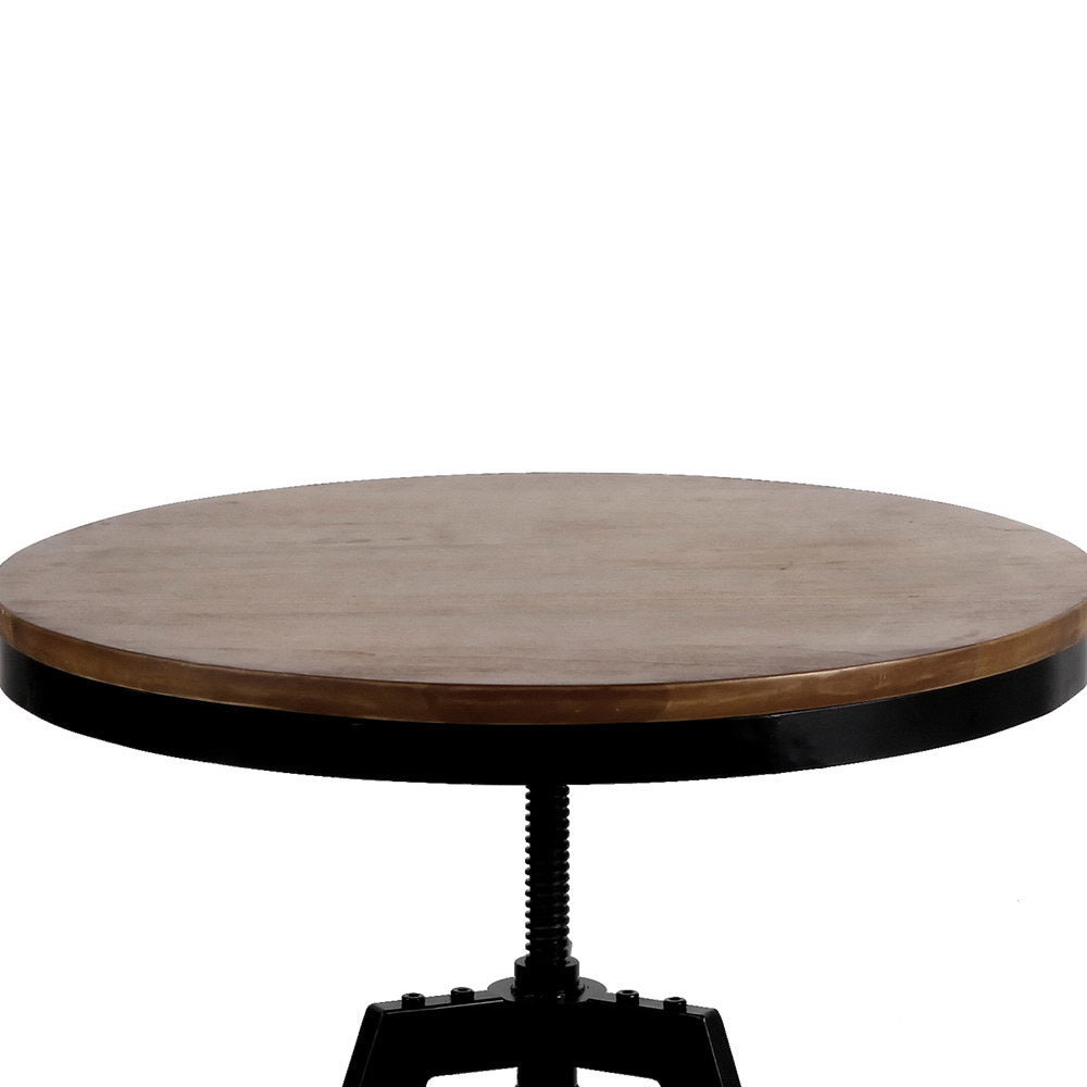 Elm Wood Round Dining Table - The Home Accessories Company 2