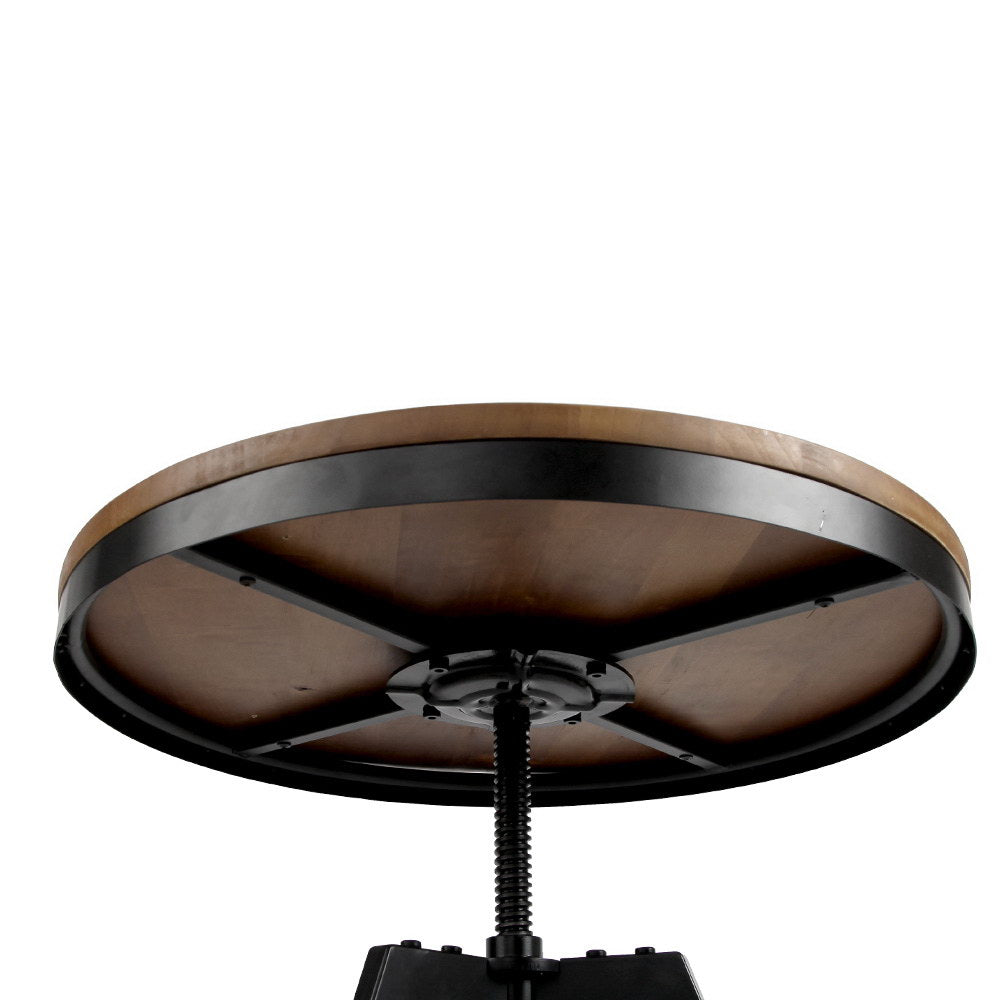 Elm Wood Round Dining Table - The Home Accessories Company 3