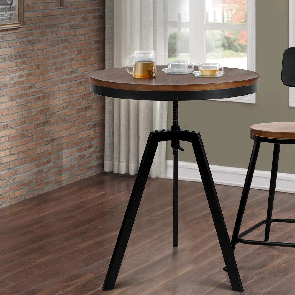Elm Wood Round Dining Table - The Home Accessories Company 4