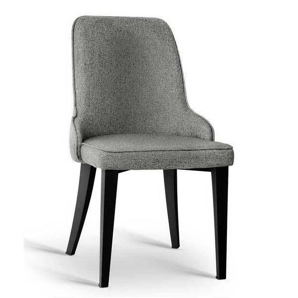 2 x Fabric Dining Chairs - Grey - The Home Accessories Company