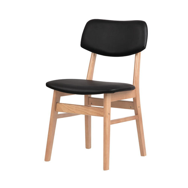 2 x Replica Ari Dining Chairs - Black - The Home Accessories Company