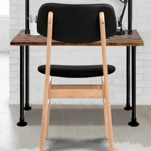 2 x Replica Ari Dining Chairs - Black - The Home Accessories Company 1