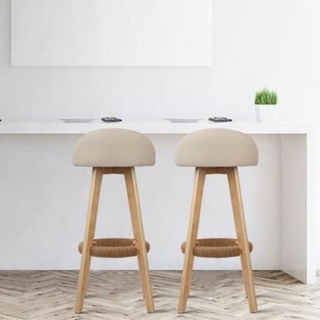 2 x Dora Back Bar Stools - The Home Accessories Company 1
