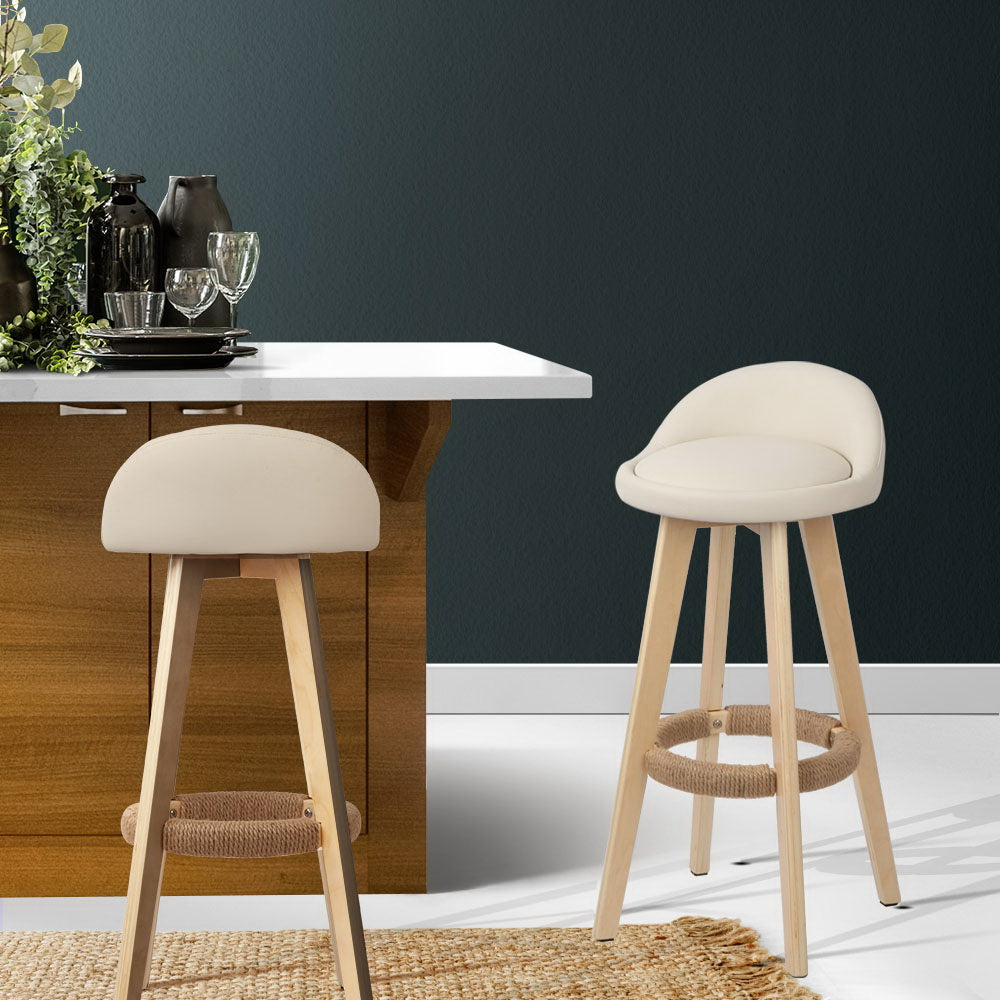 2 x Dora Back Bar Stools - The Home Accessories Company 2