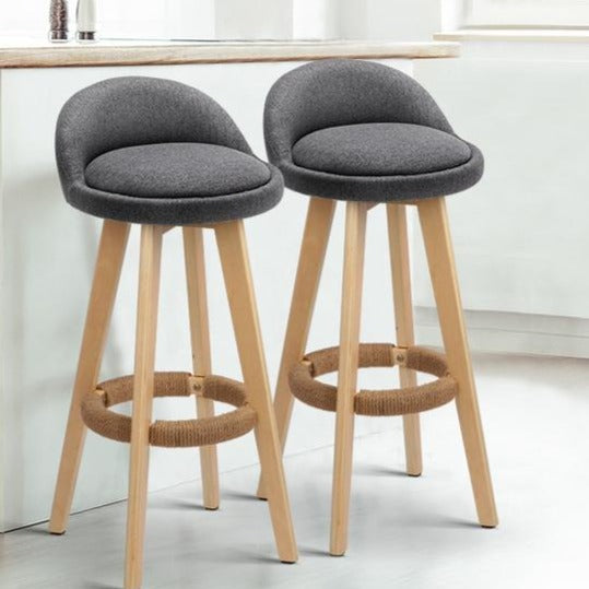 2 x Brody Bar Stools - Grey - The Home Accessories Company 2
