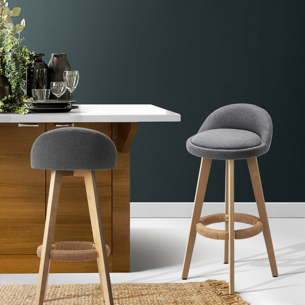 2 x Brody Bar Stools - Grey - The Home Accessories Company 3