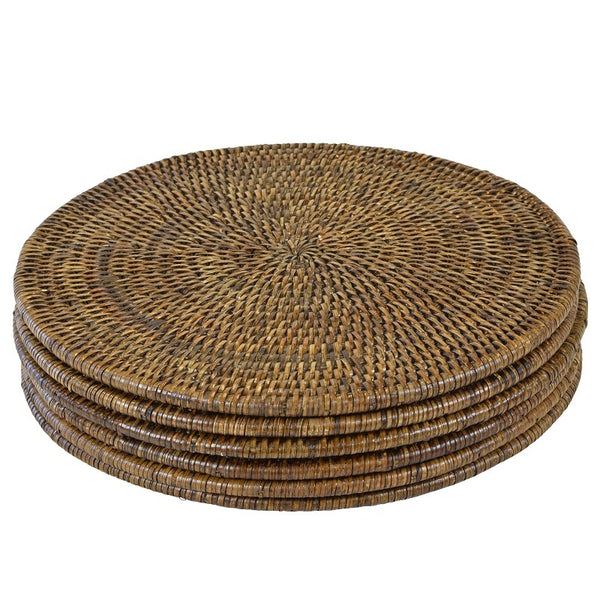 Set of 6 x Plantation Round Placemats - The Home Accessories Company