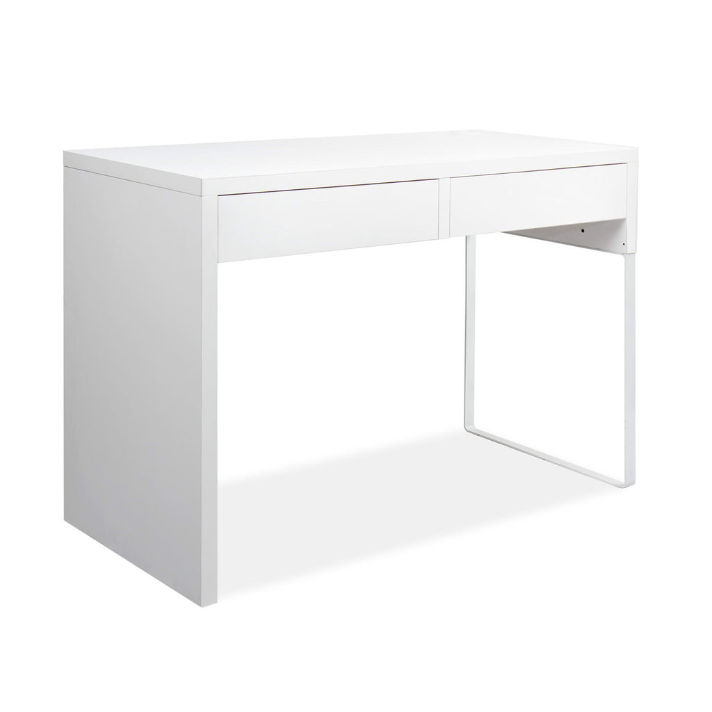 Metal Desk with 2 Drawers - White - The Home Accessories Company