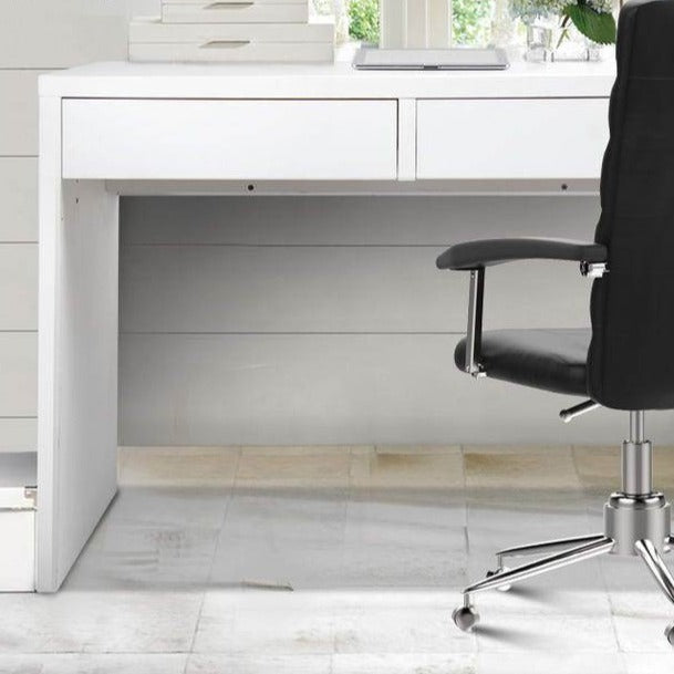 Metal Desk with 2 Drawers - White - The Home Accessories Company 1