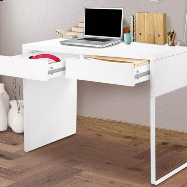 Metal Desk with 2 Drawers - White - The Home Accessories Company 3