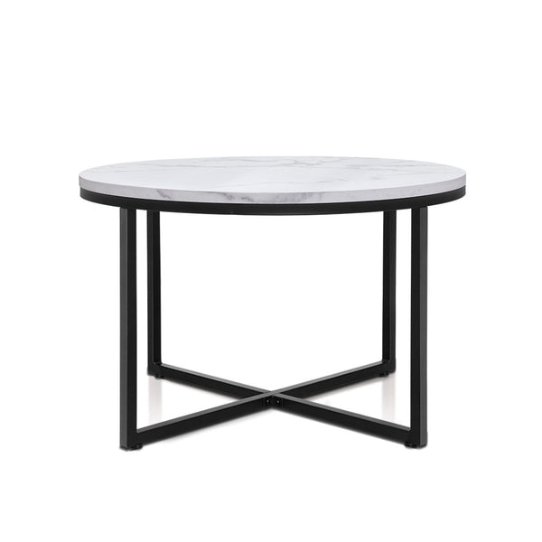 Marble Effect Round Coffee Table - The Home Accessories Company