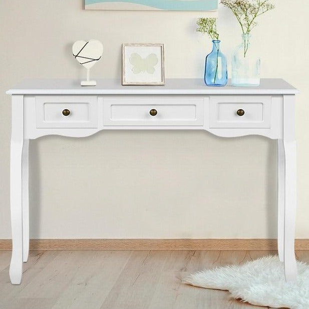 French Drawer Hall Console Table - White - The Home Accessories Company 1