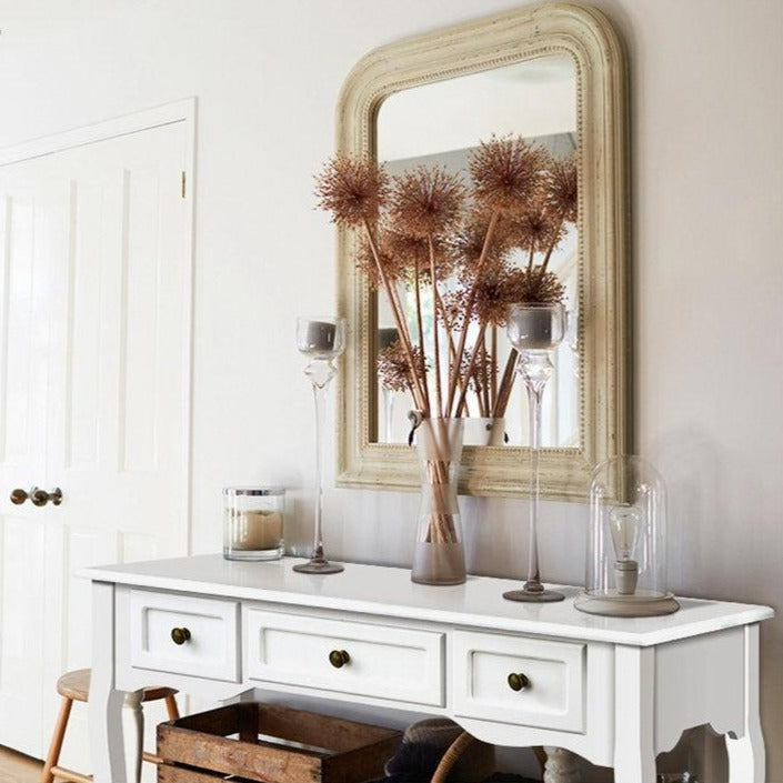 French Drawer Hall Console Table - White - The Home Accessories Company 2