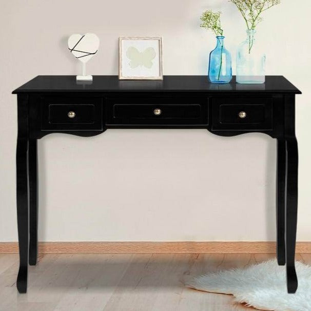French Drawer Hall Console Table - Black - The Home Accessories Company 1