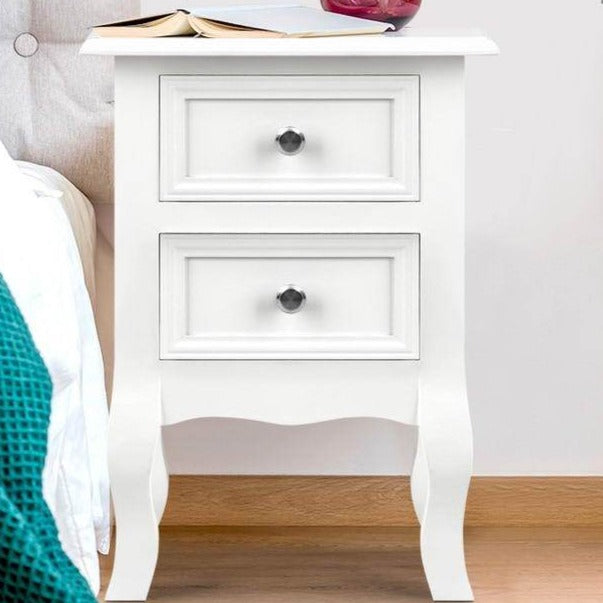 French Style Bedside Table - White - The Home Accessories Company 1