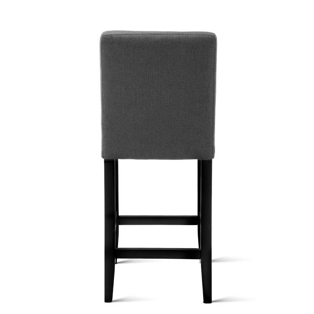 2 x French Provincial Bar Stools - Charcoal - The Home Accessories Company 1