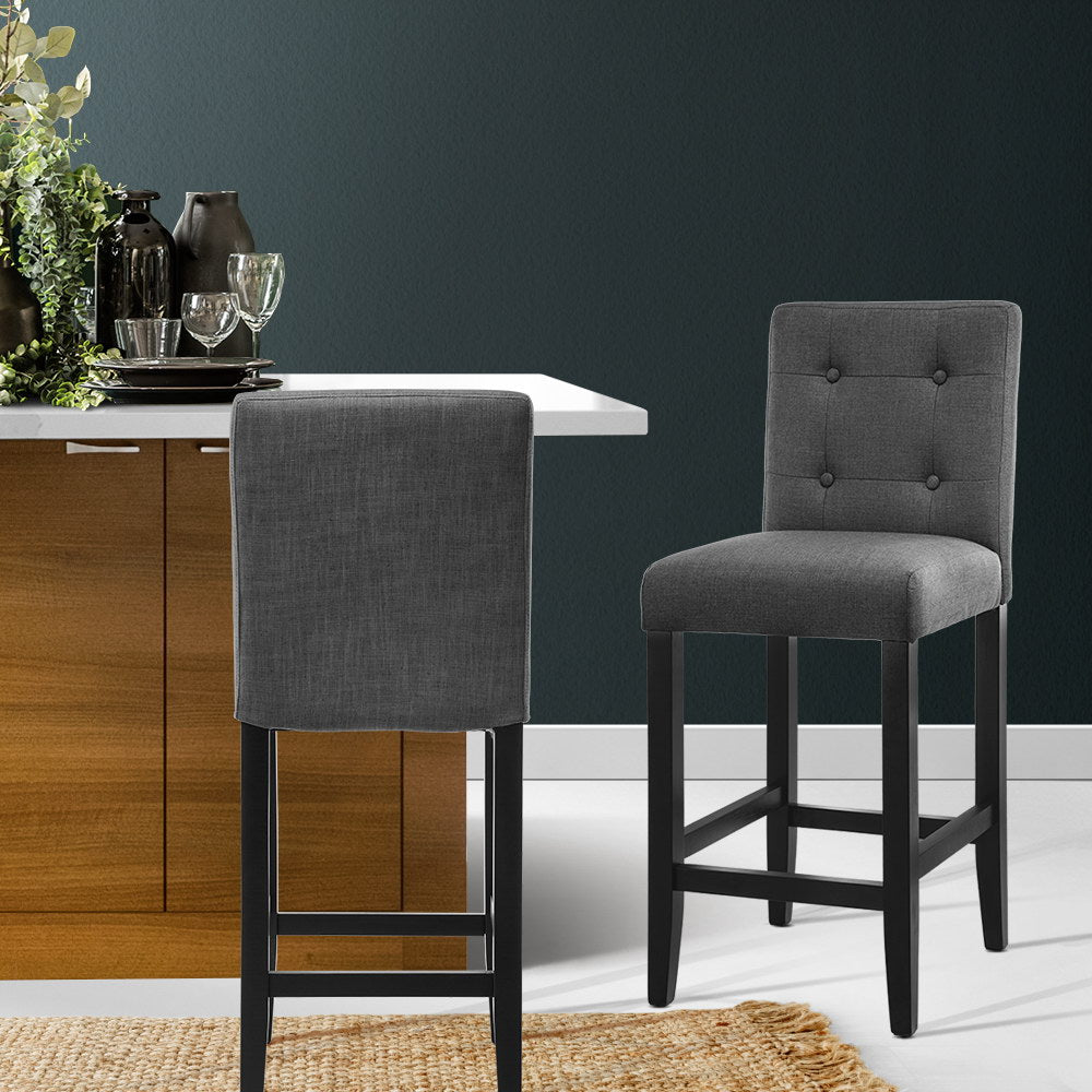 2 x French Provincial Bar Stools - Charcoal - The Home Accessories Company 4