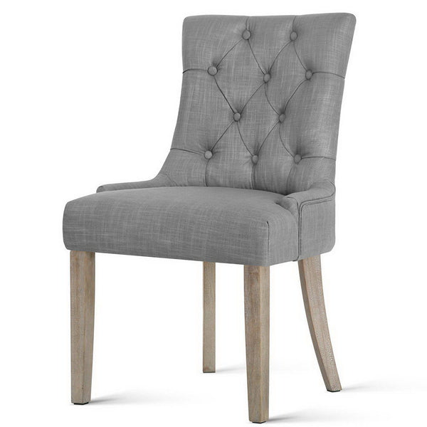 French Provincial Dining Chair - Grey - The Home Accessories Company